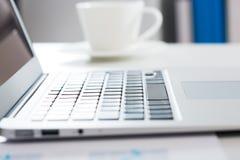 Closeup of laptop Stock Photography