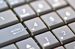 Closeup of laptop keyboard Stock Photos