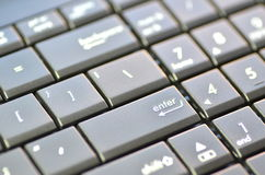 Closeup of laptop keyboard Stock Photo