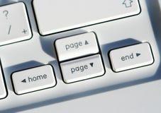 Closeup of laptop keys Stock Images