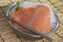 Closeup of large salmon trim Royalty Free Stock Photo