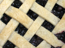 Closeup of a lattice-top blueberry pie Stock Image