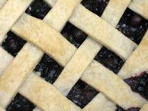 Closeup of a lattice-top blueberry pie Stock Image