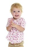 Closeup of a laughing little girl Royalty Free Stock Photo