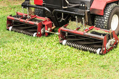 Closeup of lawn mower Royalty Free Stock Images
