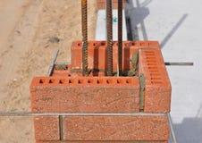 Closeup. Lay bricks and blocks correctly. Royalty Free Stock Photography