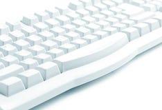 closeup le vieux clavier sur un fond blanc illustration stock
