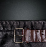 Closeup of a leather with a belt Stock Image