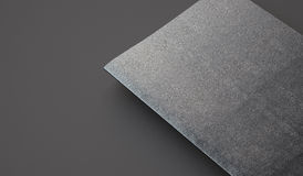 Closeup of leather cover on textbook, gray Royalty Free Stock Image