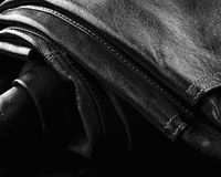 Closeup leather trousers Stock Image