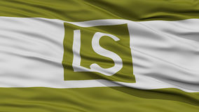 Closeup of Lees Summit City Flag Royalty Free Stock Photos