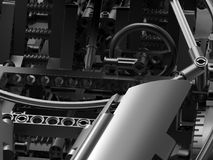 Closeup lego sports car wheel Royalty Free Stock Photo