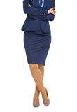 Closeup on legs of business woman Royalty Free Stock Image