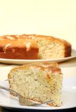 Closeup lemon poppy seed cake Royalty Free Stock Photos