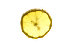 Closeup of lemon slice Royalty Free Stock Image