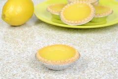 Closeup lemon tart Royalty Free Stock Image