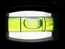 Closeup of Level Bubble Stock Image
