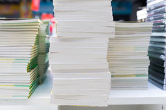 Closeup of library books Stock Images