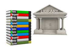 Closeup Library Building with Books Royalty Free Stock Image