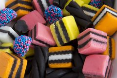 Closeup Licorice Allsorts Stock Image