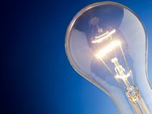 Closeup of light bulb Royalty Free Stock Photos