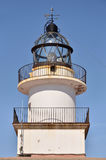 Closeup lighthouse of Cap Creus in Spain Royalty Free Stock Images