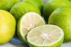Closeup Lime slice Royalty Free Stock Photography