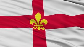 Closeup Lincoln city flag, UK. Lincoln closeup flag, city of UK, realistic animation seamless loop - 10 seconds long stock video