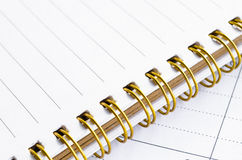 Closeup of lined diary page Royalty Free Stock Photos
