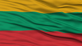 Closeup Lithuania Flag Royalty Free Stock Images