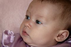 Closeup Little Baby Girl Royalty Free Stock Photos