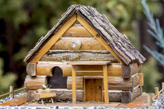 Closeup of a little house for birds Stock Image