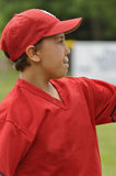 Closeup little league ball player Stock Images