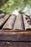 Closeup of lld wooden barn Royalty Free Stock Image