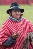 Closeup of a local cowboy in Ecuador Royalty Free Stock Photos