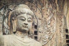 Closeup of the locana buddha stock photography