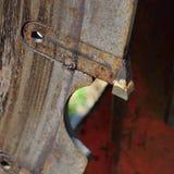 Closeup of Log Cutoff Saw Tooth Stock Photography