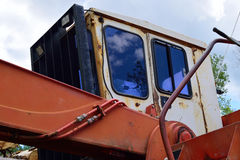 Closeup of Log Loader Cab Stock Image