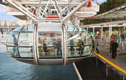Closeup of London Eye capsule Stock Photo