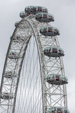 Closeup of London Eye near river Thames in London, the UK Stock Photography