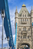 Closeup of London Tower Bridge on the River Thames Stock Photography