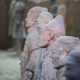 Closeup of a look around terracotta warriors Stock Photo