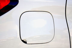 Closeup look of car fuel tank Stock Image
