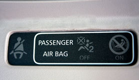 Closeup look of passaanger instruction in the car.  royalty free stock photos