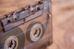 Vintage Cassette Tape Side View. stock images