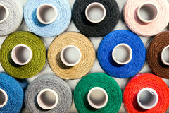 Closeup, a lot of colorful sewing thread Stock Photography