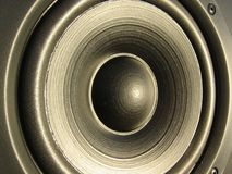 Closeup of a loudspeaker element Stock Photos