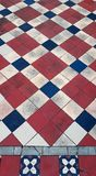 Traditional patterned pavement tiles. royalty free stock image