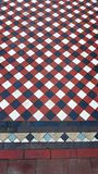 Traditional patterned pavement tiles. stock images
