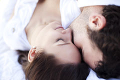 Closeup on loving couple stock photo